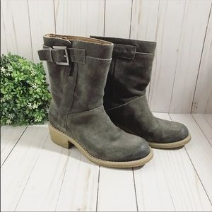 Women's Nine West fall gray boots size 5.5
